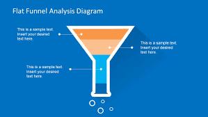 flat funnel analysis diagram template for powerpoint slidemodel