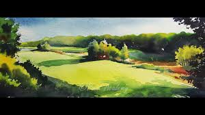 watercolor landscape painting tutorial step by step youtube