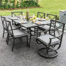 patio dining sets with fire pits 28 6 person patio set rosedown 6 person cast aluminum patio