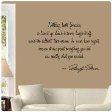 amazon com nothing lasts forever by marilyn monroe wall decal amazon com nothing lasts forever by marilyn monroe wall decal sticker art mural home decor quote home kitchen