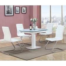 Five Piece Dining Room Sets Powell Putnam 5 Piece Dining Table Set Silver Dining Table