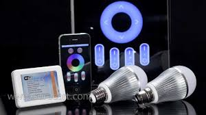 light bulbs controlled by iphone iphone and android phone controlled led light bulb mi light wifi