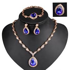 ring bracelet necklace images Pretty alloy 18k gold plated bridal necklace earring bracelet ring jpg