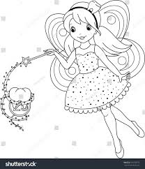tooth fairy coloring stock vector 191103770 shutterstock