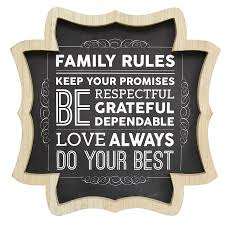 shop stratton home decor 16 in w x 16 in h framed family rules