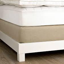 bed frame box spring linen box spring cover west elm set