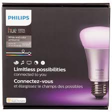 Phillips Go Light Philips Hue A19 Smart Led Light Bulb Starter Kit White U0026 Colour