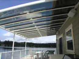 Clear Patio Roofing Materials Skyvue Patio Cover Custom Canopy And Patio Covers Youtube