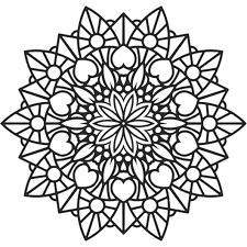 Coloriage Mandala fleur et coeur en Ligne Gratuit à imprimer