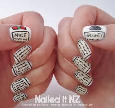 Challenge Tutorial Santa S List Nail Tutorial 12 Days Of Nail