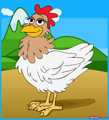 how to draw a chicken step by step farm animals animals free
