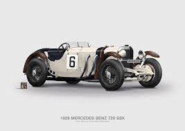 mercedes ssk mercedes 720 ssk 1928 poster typoart store