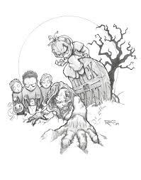 cute halloween drawings halloween horror drawings horror printable coloring pages free