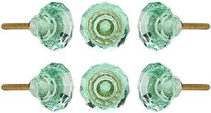 glass kitchen cabinet door pulls set of 6 glass knobs kitchen cabinet cupboard glass door knobs dressser wardrobe and drawer pull by perilla home mint