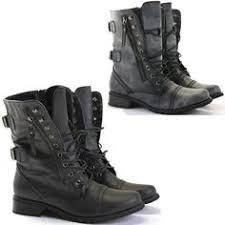 buy combat boots womens 2 low heel ankle combat boots