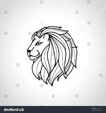 king lionlion logotattoovector logo template stock vector
