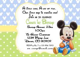 Mickey Mouse 1st Birthday Card Mickey Mouse Baby Birthday Invitations By A Sweet Celebration