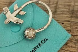 key rings tiffany images Tiffany co vintage sterling globe airplane key ring jpg