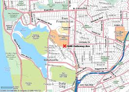 san francisco on map san francisco state arts bldg map