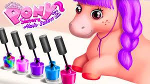 fun animal pony care kids play fun pony nail hair makeover
