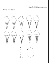 free printable ice cream number 10 free printable worksheets
