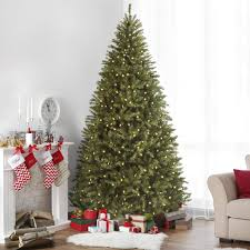7 5ft fir hinged artificial christmas tree w dual function ul