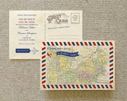 postcard save the date vintage air mail postcard save the date canada