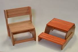 wooden kitchen step stool chair 13962