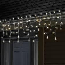 sylvania 100 light led warm white icicle lights shopko
