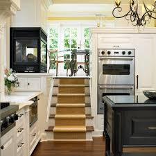 levelor kitchen traditional with built in media center cybball com