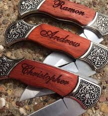 wedding gift knives 6 personalized knives custom engraved groomsmen gift pocket