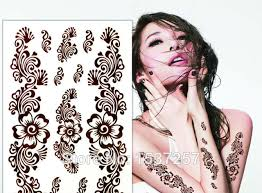 aliexpress com buy 1pcs brown henna tattoo sticker waterproof
