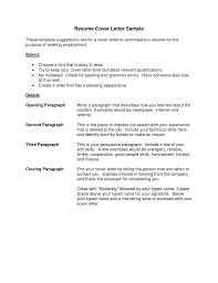 resume example of cover letter simple general application with