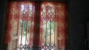mod鑞e de rideaux de cuisine mes realisations cuisine les rideaux crochet d amour