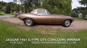 jaguar 1961 e type series 1 ots removable hardtop concours winner