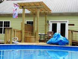 above ground pool deck plans