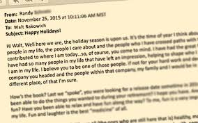the email a note that led to a thanksgiving challenge walt rakowich