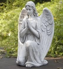 Outdoor Decor Statues Garden Angel Statue Graceful Memorial Angel Holding Baby Garden