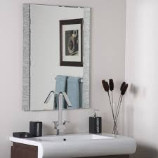 bathrooms design antique frameless wall mirror bathroom mirrors