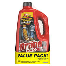 drano max clog remover twin pack 160 ounces walmart com