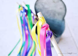 ribbon wands ribbon wands a simple and easy diy tutorial on somewhat simple
