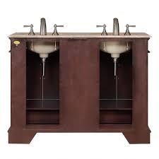 Ebay 48 Bathroom Vanity by 48 Inch Compact Double Sink Travertine Stone Top Bathroom Vanity