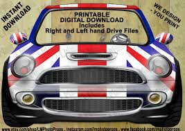 British Flag Ww1 British Mini Cooper Downloadable Photobooth Prop Digital
