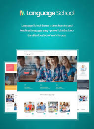 wordpress templates for websites language courses u0026 learning management system education