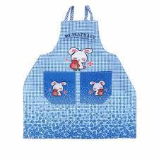 2 colors fashion waterproof women kitchen apron cute cartoon
