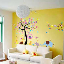 Wall Decals Baby Nursery New Design Large Tree Wall Stickers Animal Paradise Nursery Decals