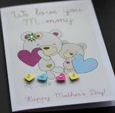 large handmade personalised cute bears mother u0027s day card mum mam