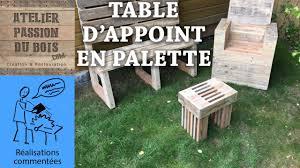 Table De Jardin En Palette by Realiser Un Salon De Jardin En Palette Une Petite Table Youtube