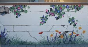 Garden Mural Ideas Stunning Garden Wall Murals Ideas Fence Mural Sart Diy Home