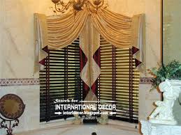 curtain valances with tassels decorate the house with beautiful